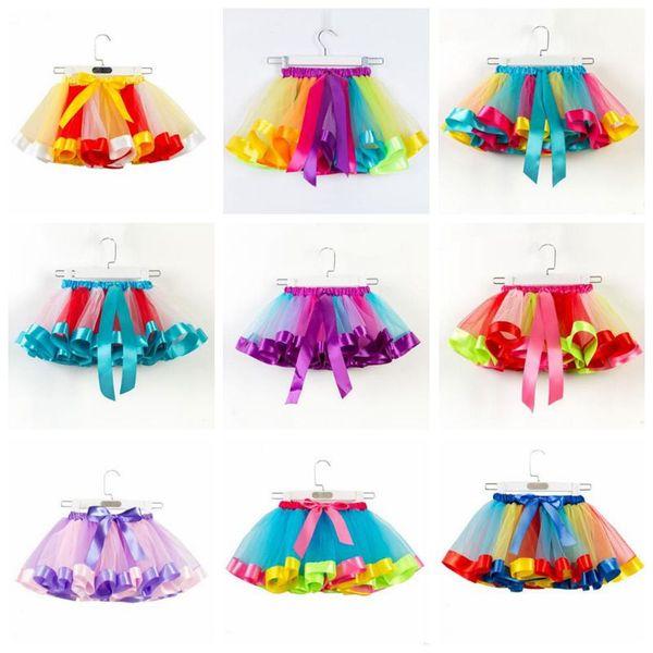 Baby Girls Tutu Skirts Raninbow Tulle 페어리 페티쉬 팬시 발레 스커트 프릴 댄스 공주님 미니 드레스 무대 복 의류 A5464
