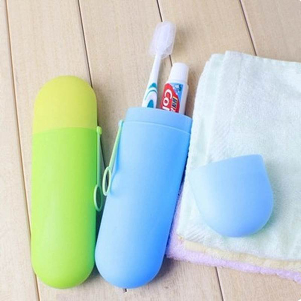 10 PC Portátil ToothBrush Titular Caixa De Armazenamento De Viagem Camping Copos De Caminhada Colorido Escova De Dentes Caso Capa Organizador Doméstico