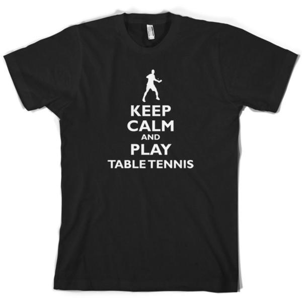 Mantieni la calma e gioca a ping pong Mens T-Shirt Player Ping Pong 10 colori Divertente spedizione gratuita Unisex Casual