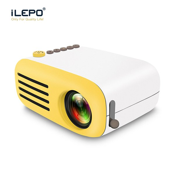 Mini proiettore portatile AAO YG200 LED Supporto USB 3D con schermo diffusore Videogiochi Video Home Theater Proiettore di telecomando senza fili