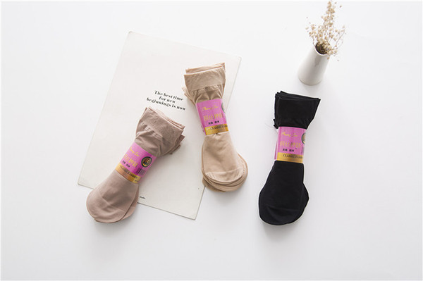 KYLIE PINK durable top quality Thin Silk Women girls Socks Female for Summer short Transparent sock Ankle Sox calcetines 10pairs/lot