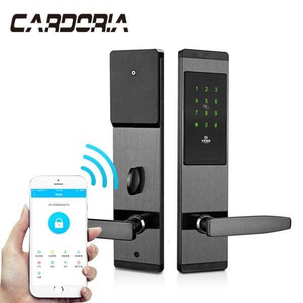 Безопасность Электронный замок двери без ключа цифровой смарт APP WIFI сенсорный экран клавиатуры Password Lock двери T191029