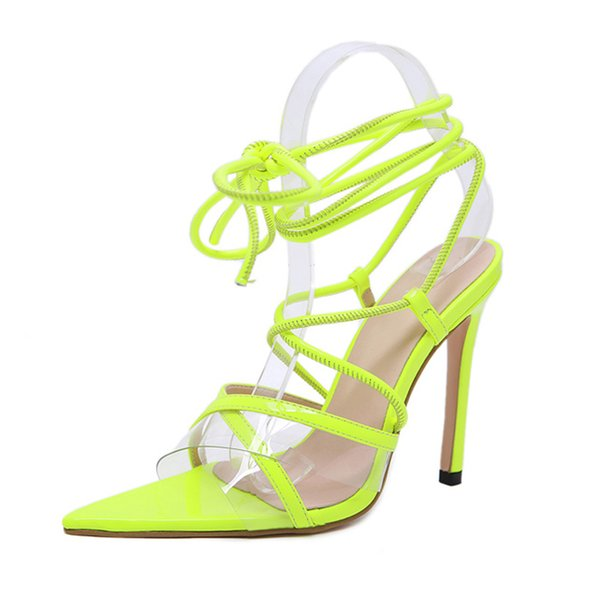 Cross tied Gladiator Sandals Women Pumps Shoes Thin High Heels