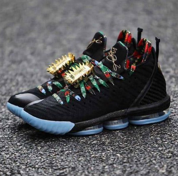 detailed look 6cd9b 9fc38 New lebron 16 Watch The Throne Men Basketball Shoes Black Metallic Gold-Rose  Frost James