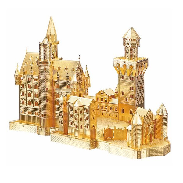 wholesale 3D Metal Puzzle Toy Assembly Model Neuschwanstein Castle Building Metal Craft Castle Collectible Kids Toys Gift
