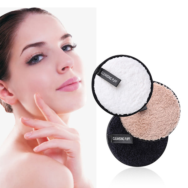 best selling Make up Remover Promotes Healthy Skin Microfiber Cloth Pads Remover Towel Face Cleansing Makeup Lazy Cleansing Powder Puff