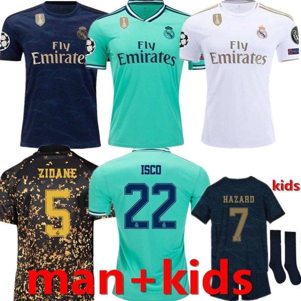 2019 2020 Real Madrid calcio Jersey PERICOLO casa lontano camicia di calcio adulto ASENSIO ISCO MARCELO Madrid 19 20 Man bambini corredo delle uniformi di gioco del calcio