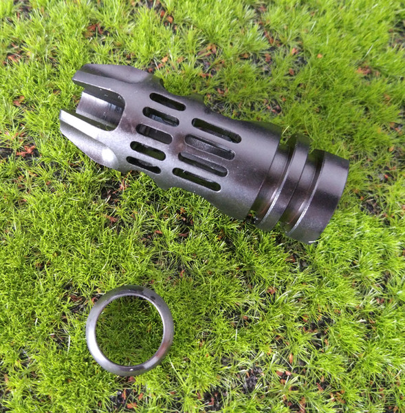 F&N Tactical 1 2-28 TPI Thread Steel Caliber Muzzle Brake With Free Crush Washer For.223 5.56