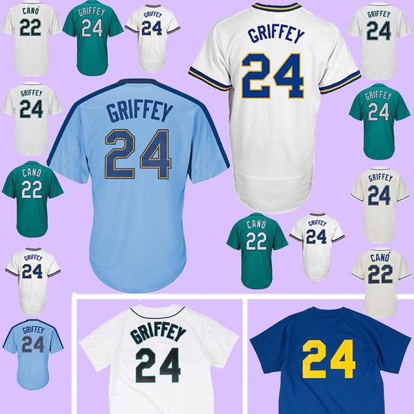 sports shoes 8b109 30e9f 2019 TOP Seattle Mariners Baseball Jersey 22 Robinson Cano #24 Baseball  Jerseys 100% Stitched Adult Shirt MEN 2018 From Greena_yan, $23.5    DHgate.Com