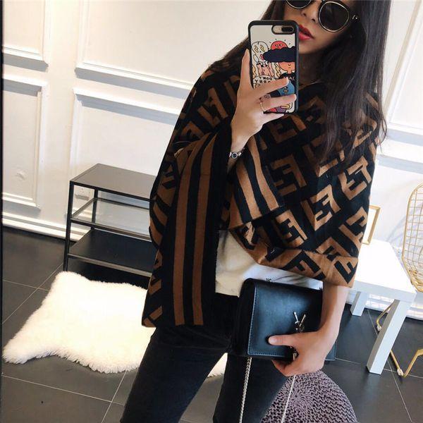 FF Luxury Designer Women Scarf Brand winter autum Bufandas defiende cálido Wraps Bufanda Pashmina Soft Imitation Cashmere Shawl Capas cálidas B73102