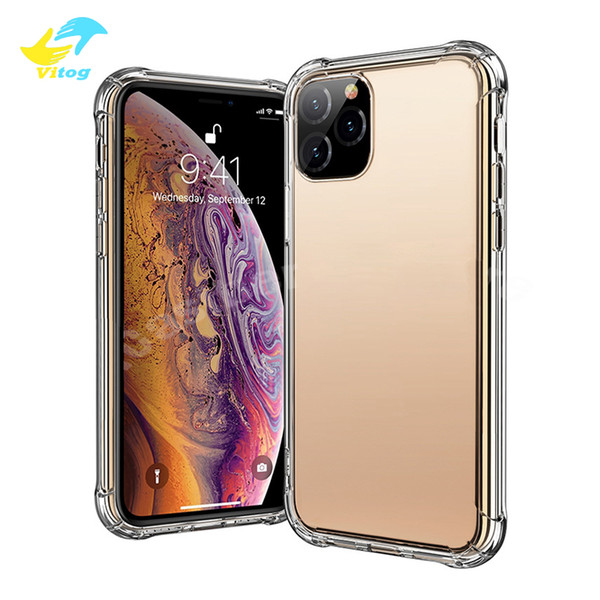 best selling Super Anti-knock Soft TPU Transparent Clear Phone Case Protect Cover Shockproof Soft Cases For iPhone 11 pro max 7 8 plus X XS note10 S10