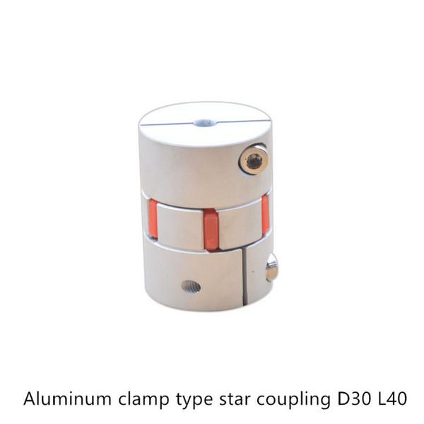 D30 L40 mandíbula flexível acoplamento do motor de alumínio CNC aranha flexível acoplador da mandíbula 5x8mm furo Interno 3mm 4mm