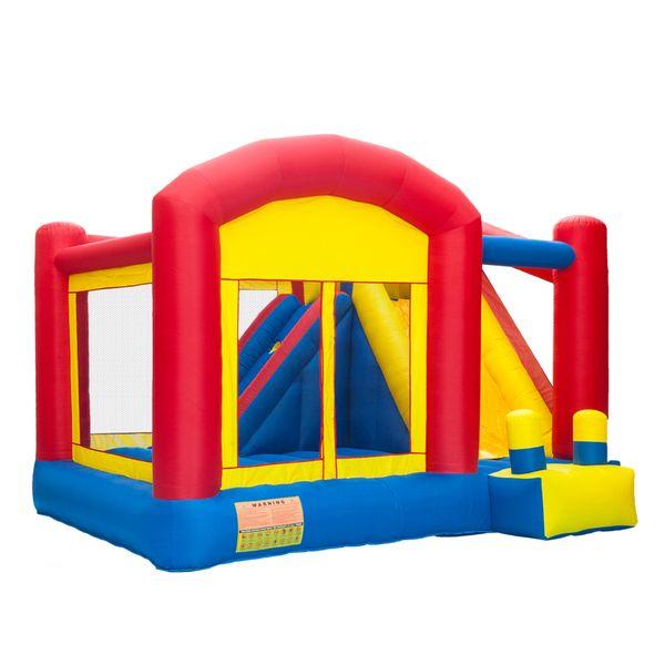 꿈의 성 바운스 하우스 야외 슬라이드 풍선 도둑 Moonwalk 점퍼 아기 소년 소녀 실내를위한 경비원 생일 파티 선물 키즈 바운스