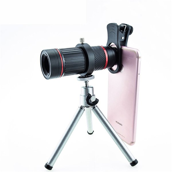 Optical Glass Phone zoom Telescope Phone Lens HD Monocular 18X Telephoto Mobile Phone Camera Lenses Metal Tripod ABS Glass Len