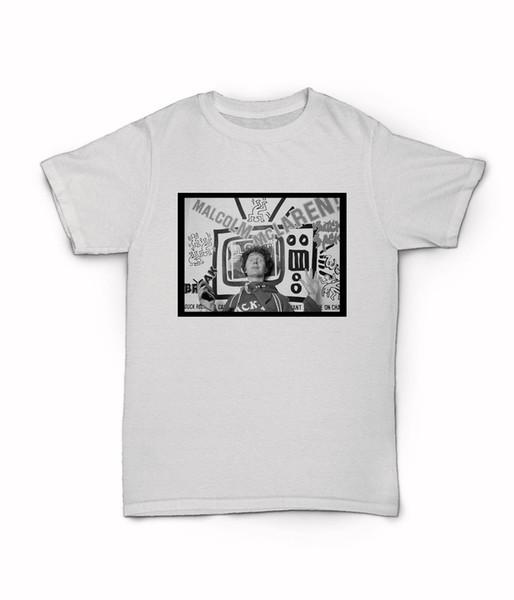 Malcolm Mclaren T-Shirt - Keith Haring Design Duck Rock Buffalo Girls NYC Funny free shipping Casual Tshirt top