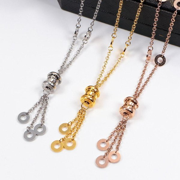 Necklace with edging Rose Gold Silver Color Necklace for Women Vintage Collar Costume Jewelry with original box set