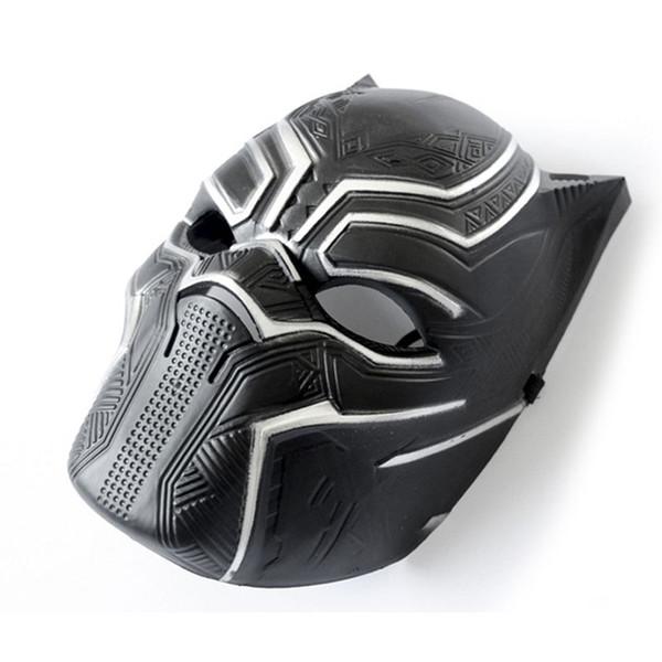 Máscaras de pantera negra Capitán América Guerra Civil roles Cosplay Máscara de látex Casco Fiesta de adultos realista de Halloween Apoyos