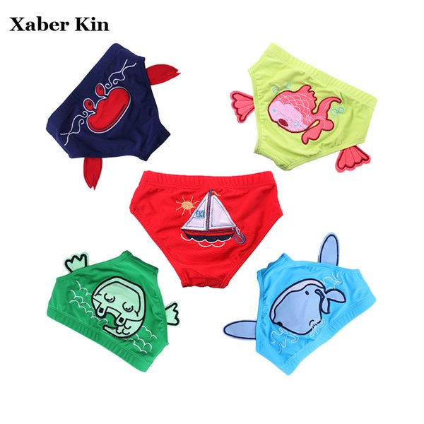 Baby Cartoon Trunks 2018 New Baby Swimming Suits Swim Briefs Beach Wear Uv-proof Trunks G5-K12
