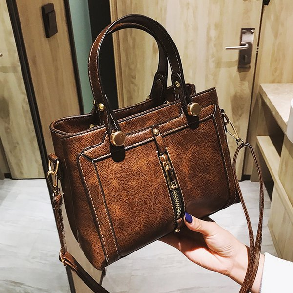 tote zipper decoration crossbody women bag 2019 leather shoulder messenger handbag ladies luxury designer famous brands