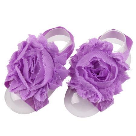 라벤더 베이비 맨발 신발