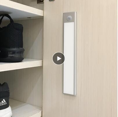Lámparas 23/40 / USB 60 cm de movimiento PIR LED del sensor debajo del gabinete, luz recargable armario ropero noche para la cocina de la luz interior pared