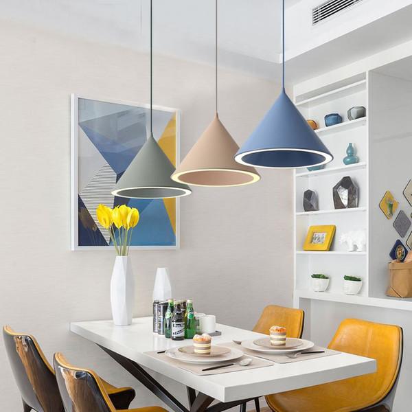 Luminaire Élégant En Couleur Salle Métal Suspension Lampe Moderne Suspendu Lampes Acheter Pour LED Pendentif À Manger Aluminium Cuisine Nordic Muti En XZuPTiOk