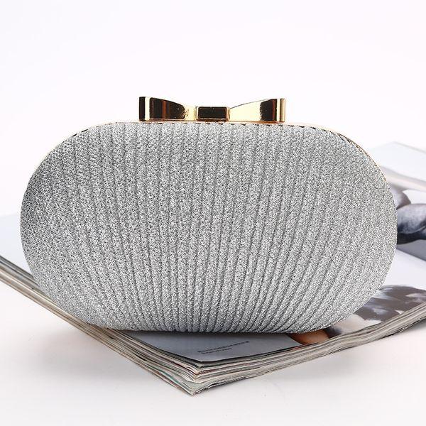 Bling Altın Gümüş Gelin El Çantaları Moda Stil Kadın Akşam Resmi Parti Debriyaj crossbody çanta Gelin Sparkle Gelin Çanta Için El Çantaları
