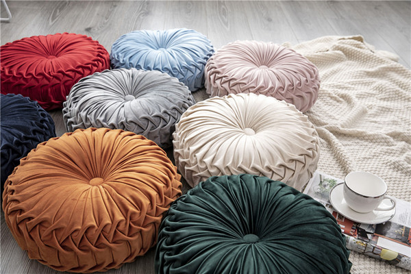 Incredible 36Cm European Style Round Seat Cushion Back Cushion Sofa Pumpkin Pillow Bed Pillow Velvet Fabric Replacement Cushions For Outdoor Furniture Lawn Chair Forskolin Free Trial Chair Design Images Forskolin Free Trialorg