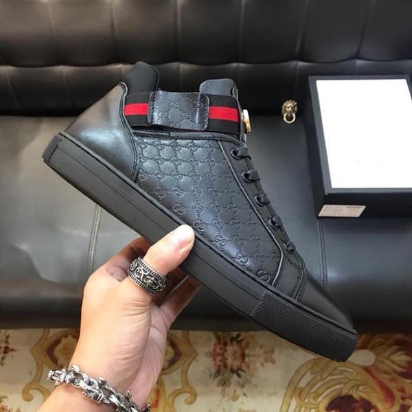 Italion hommes chaussures de course hommes véritable luxe Le squelette Les baskets en cuir à motif crocodile
