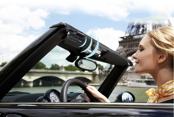 Sun Visor Bluetooth Speakerphone MP3 Music Player Wireless Bluetooth Transmitter Handsfree Car Kit Receiver Speaker Car Charger 2019