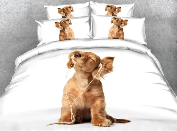 Puppy Bedspread Dog Prints Cute Duvet For Kids Girls 3 Pieces Boys Christmas Bedding Sets With 2 Pillow Shams Comforter Cover Zipper Closure
