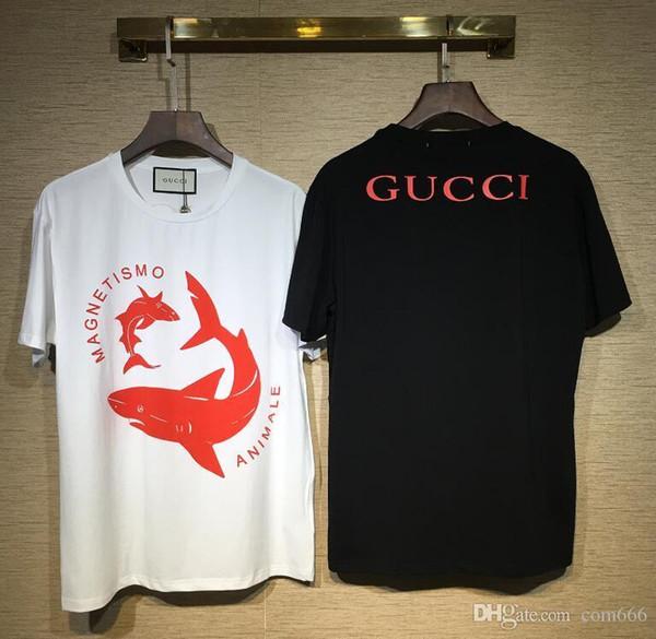 2018 New Fashion basket-ball imprimé court T-shirt Couples Lovers pur coton à manches courtes Hommes femmes Hip Hop Street Style Tees Shirt
