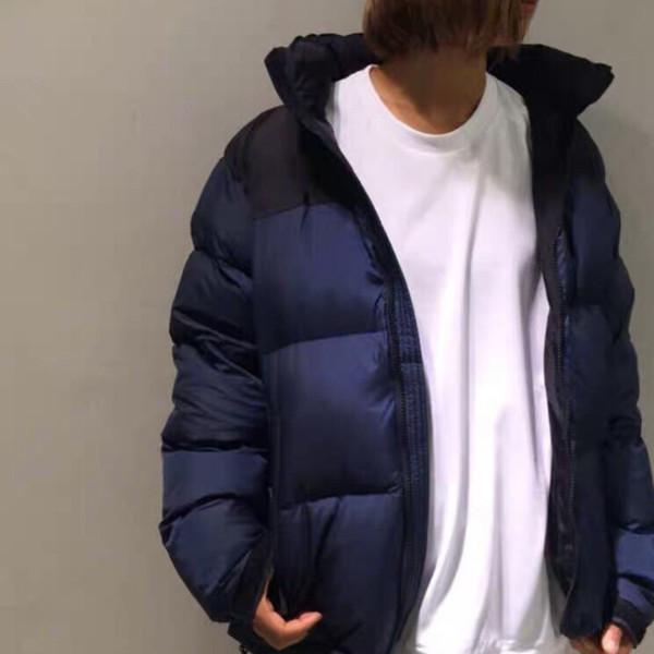 Forma-18AW Luxo Europeu Patchwork Down Jacket Moda Oversize alta qualidade Casais casaco quente mulheres dos homens HFKYYRF004 Designer