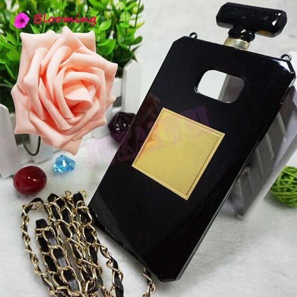Luxury Perfume Bottle TPU Soft Phone Case For iPhoneX XR XS MAX 7 plus 8Plus Handbag Chain cellPhone Back Covers hot sale