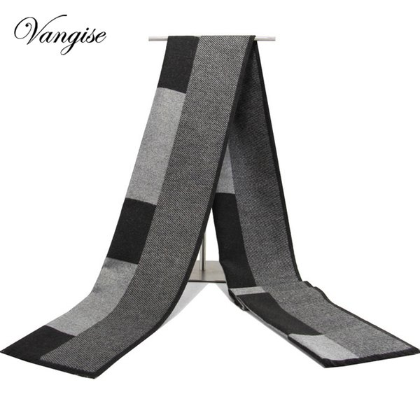 2019 Male Female winter scarf scarf men wool plaid bandana cashmere bandana muffler lovers thick thermal double faced gift men