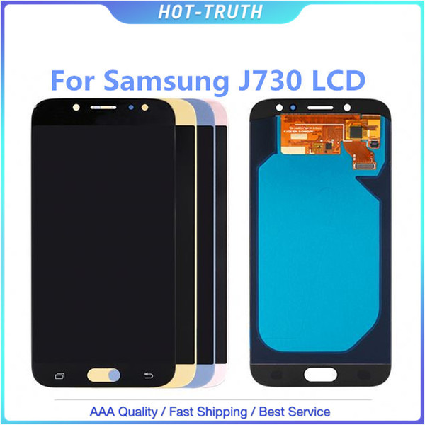 Super Amoled For Samsung Galaxy oled J7 Pro 2017 J730 J730F LCD Display With Touch Screen Digitizer Assembly Brightness Adjustment