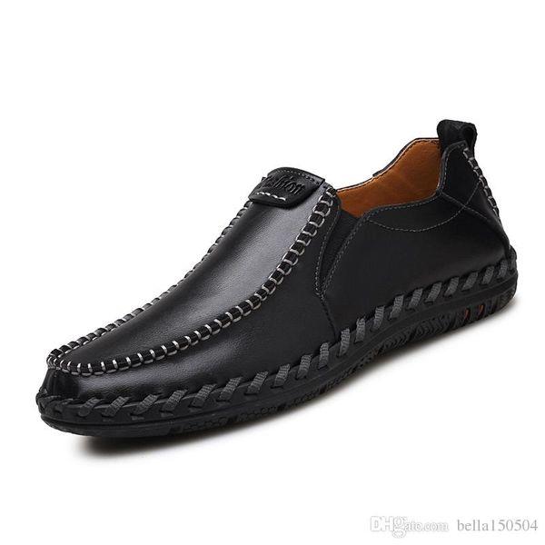 Mais recente de couro genuíno sapatos masculinos de lazer vestido sapato de camurça preguiçoso oficial sapatos suaves mens sapatos de caminhada de viagem conforto ocasional respiração sapatos
