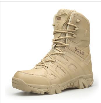 2018 Randonnée En Plein Air Chaussures Hommes Haut Haut Militaire Tactique Bottes Hommes Combat Bottes Armée Militares Sapatos Masculino