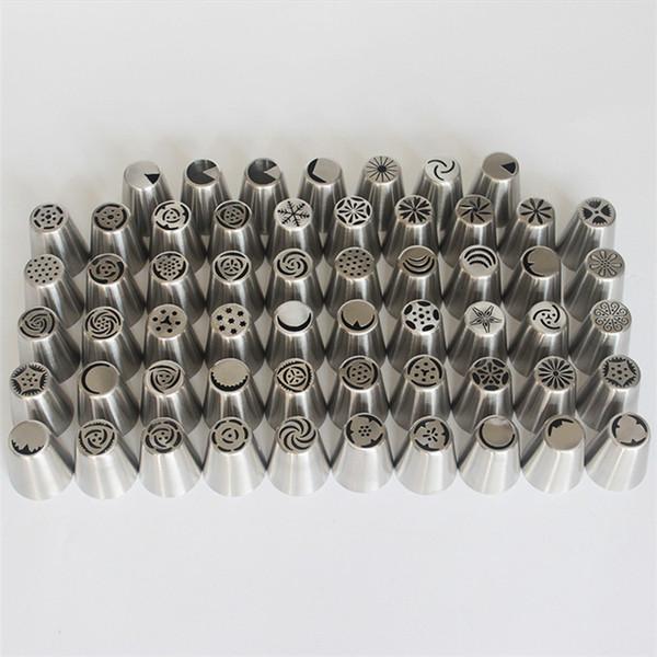 Nuovo stile in acciaio inox russo un pezzo fiore bocca di montaggio di grandi dimensioni torta degli ugelli della torta della cucina di cottura Strumenti T9I00211