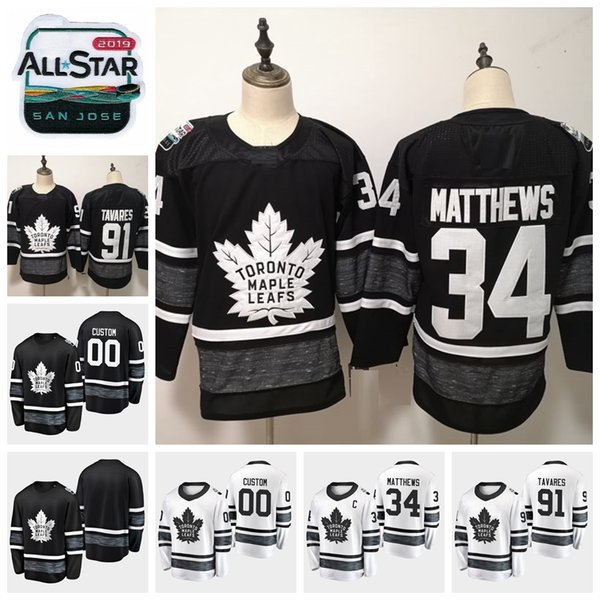 sports shoes 9b312 eedbc 2019 2019 All Star Game 34 Auston Matthews Customize Toronto Maple Leafs  Hockey Jerseys Black White Jersey 91 John Tavares Stitched Shirts From ...