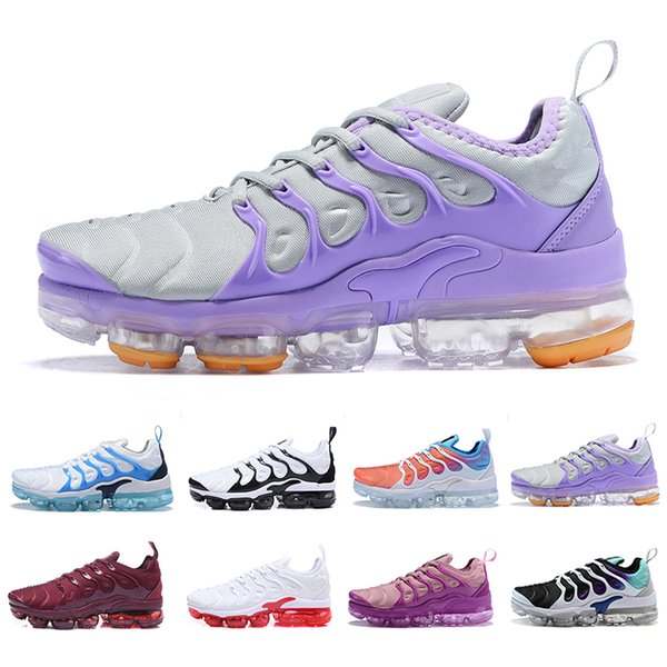 2019 High quality Cheap TN Plus women Running Shoes white pink purple girl grape womens female sports outdoor trainers sneakers EUR 36-40