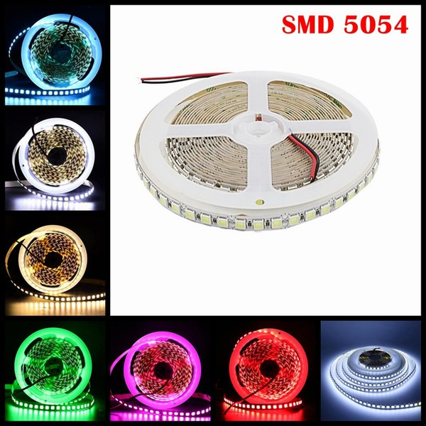 Umlight1688 5054 Bande à ruban LED 5m 120LEDs / M Blanc chaud imperméable à l'eau 600 rubans de ruban à LED plus brillants 5050 5630
