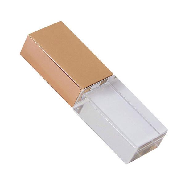 Luxury Crystal Shape 64GB 16GB 32GB USB 2.0 Flash LED Pen Drive Memory Stick Thumb Drive Waterproof Jump Drive U Disk Gift
