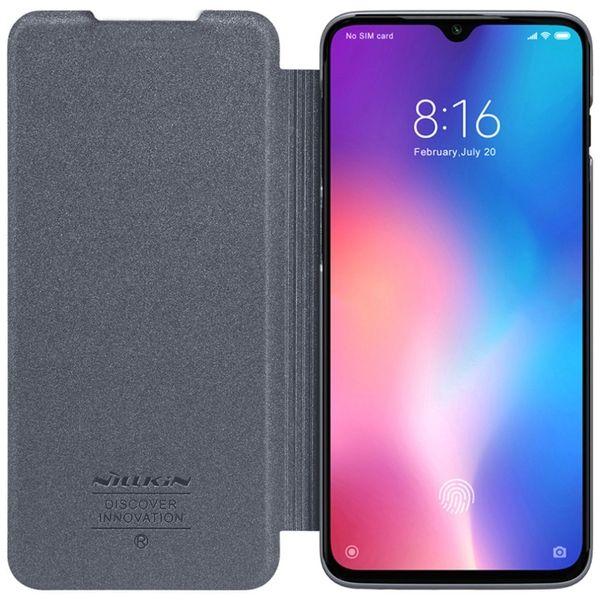 Venta al por mayor de mi 9 explorar Flip Case Nillkin Sparkle serie PU cubierta de cuero Flip Case para Xiaomi mi 9 / mi 9 explorer 6.39 pulgadas