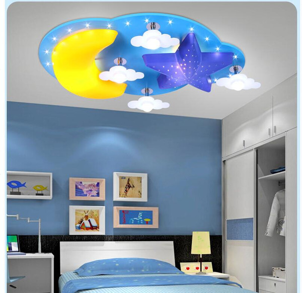 2019 Modern Kids Bedroom Ceiling Lamp Moon Star Design E27 LED Creative  Cartoon Decoration Children Ceiling Lighting 100% Guaranteed From  Tinger3280, ...