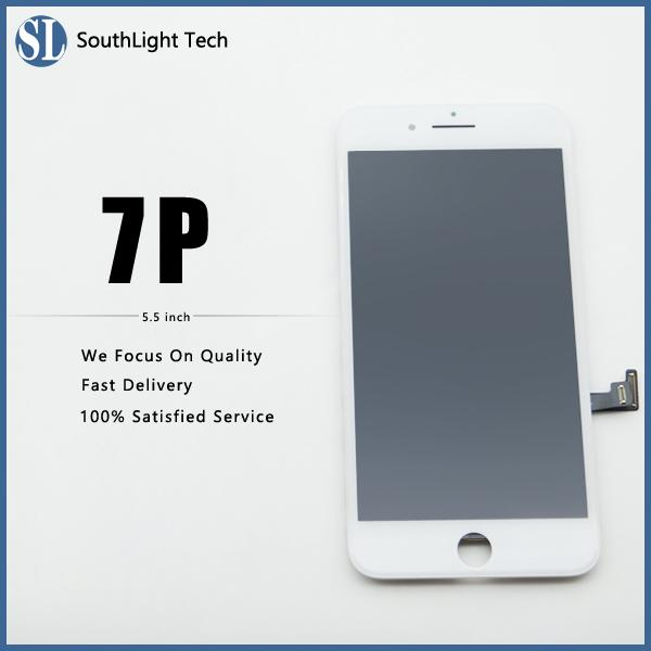 Good Price For Iphone 7 Plus LCD Screen High Brightness Display With Cold Glue Frame Assembled Perfect 3D Response And Fingerprint Tested