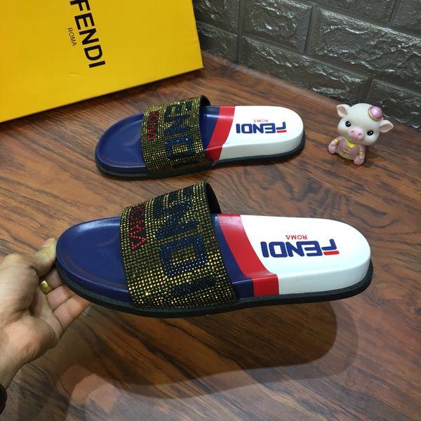 Billig marke Hohe Qualität Luxus Marken Designer Männer Sommer Gummi Sandalen Strand Slide Mode Scuffs Hausschuhe Indoor Schuhe Größe EUR 40-45