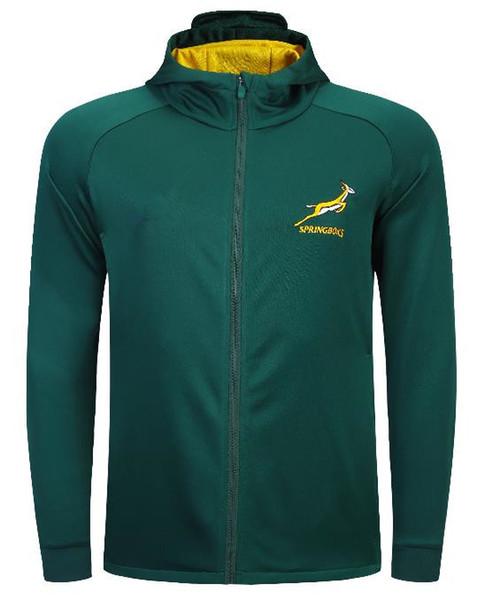 2019 Afrique du Sud Accueil Jersey VESTE national rugby équipe sud-africaine Sweats à capuche Veste à capuche taille S-L-3XL