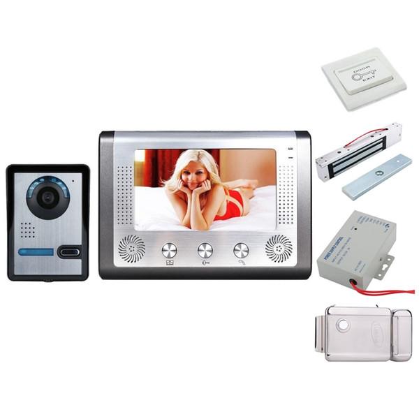 Kit interphone vidéo pour la sécurité à la maison avec interphone vidéo 7 pouces