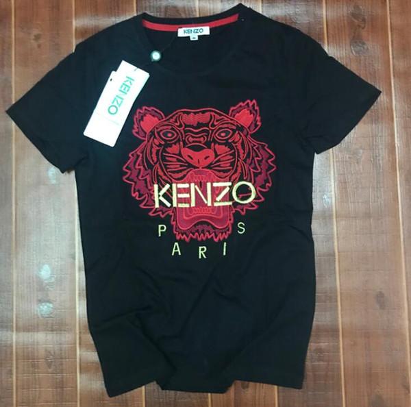 K22 XXLKenzo Summer Designer T Shirts Hombre Tops Tiger Head Letter Bordado Camiseta Ropa para hombre Marca Camiseta de manga corta